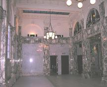 Interior view of the banking hall showing decorative detailing; OHT, january 2005