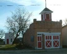 Main Street view of Bruno Fire Hall and Jail, 2007; J. Winkel, 2007