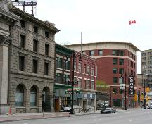 Contextual view, from the south, of the Ashdown Store, Winnipeg, 2006; Historic Resources Branch, Manitoba Culture, Heritage, Tourism and Sport, 2006