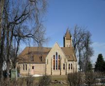 View of south elevation of the Knox Presbyterian Church, Neepawa, 2005; Historic Resources Branch, Manitoba Culture, Heritage & Tourism 2005