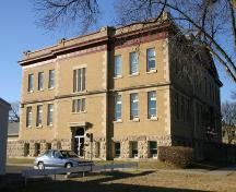 View of east elevation of the Brandon Normal School, Brandon, 2005; Historic Resources Branch, Manitoba Culture, Heritage and Tourism, 2005