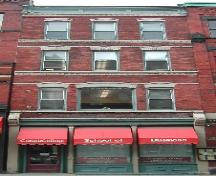 This photograph shows the Prince William Street façade, 2005.; City of Saint John