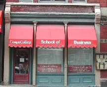 This photograph shows the storefront on the Prince William Street façade, 2005.; City of Saint John