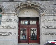 This photograph shows the main entrance to the building, 2005.; City of Saint John