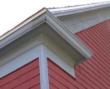 Eave return and rounded corner board, Anglican Rectory, Blandford, Nova Scotia, 2007.; Heritage Division, Nova Scotia Department of Tourism, Culture and Heritage, 2007.