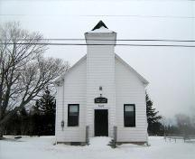 Front elevation, Mitchell Island Union Church, Point Edward, NS, 2008.; Heritage Division, NS Dept. of Tourism, Culture and Heritage, 2008