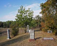 Contextual view, from the east, of the Millford Cemetery, Treesbank area, 2006; Historic Resources Branch, Manitoba Culture, Heritage and Tourism, 2006