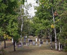 Contextual view, from the southwest, of the Millford Cemetery, Treesbank area, 2006; Historic Resources Branch, Manitoba Culture, Heritage and Tourism, 2006
