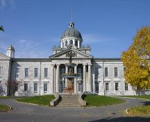 View of front, southern elevation of Frontenac County Court House; OHT, 2005