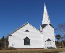 The front elevation of the Raynardton Free Baptist Church, Raynardton, Yarmouth County, NS, 2008.; Heritage Division, NS Dept. of Tourism, Culture and Heritage, 2008