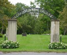 The Loyalist Burial Ground - Front entrance; Town of St. Stephen