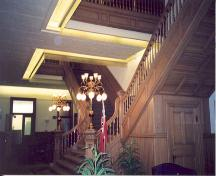 View of the wooden detail and the grand staircase in the London Normal School – 2002; OHT, 2002