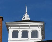 Detail of the cupola on the Dr. John Harris House, Beaver River, Yarmouth County, NS, 2008.; Heritage Division, NS Dept of Tourism, Culture and Heritage, 2008