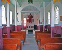 Interior view of Sts. Cyril and Methodius Roman Catholic Church, Gimli area, 2006; Historic Resources Branch, Manitoba Culture, Heritage and Tourism, 2006
