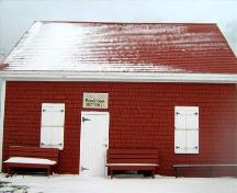 This is the front, road side entrance to Dominion Schoolhouse. 2008; Dept. of Tourism, Culture and Heritage, Province of Nova Scotia, 2008