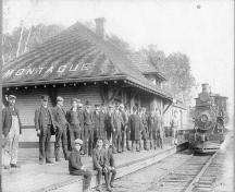 Arrival of first locomotive, July 1, 1906; Garden of the Gulf Museum, Donna Collings Collection