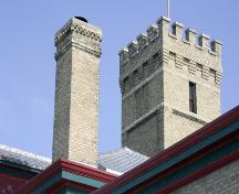 Detail view of St. Boniface Fire Hall No. 1, Winnipeg, 2007; Historic Resources Branch, Manitoba Culture, Heritage and Tourism, 2007