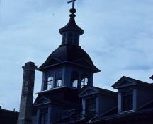 Detail view of the cupola of St. Ann's Academy National Historic Site of Canada, 1992.; Agence Parcs Canada / Parks Canada Agency, HRS 0372, 1992.