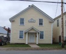 Front elevation, Harmony Lodge #52, Aylesford, Nova Scotia, 2006.; Heritage Division, NS Dept. of Tourism, Culture and Heritage, 2006
