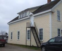 North elevation, Harmony Lodge #52, Aylesford, Nova Scotia, 2006. ; Heritage Division, NS Dept. of Tourism, Culture and Heritage, 2006