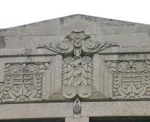 Wall detail of the Greater Winnipeg Gas Company Building, Winnipeg, 2006; Historic Resources Branch, Manitoba Culture, Heritage, Tourism and Sport, 2006