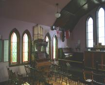 Interior view of St. Luke's Anglican Church, Souris, 2006; Historic Resources Branch, Manitoba Culture, Heritage, Tourism and Sport, 2006