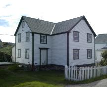 Exterior view of front and side facade of Martin Greene House and Outbuildings, Tilting, NL, 2003.; 2004 Heritage Foundation of Newfoundland and Labrador