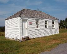 Exterior view of front facade,Mosquito School House (Bristol's Hope, NL).; 1998 Heritage Foundation of Newfoundland and Labrador