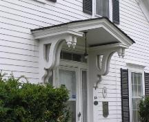 C.B. Archibald House, front door detail, 2004; Heritage Division, NS Dept. of Tourism, Culture and Heritage, 2004