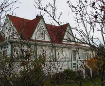Cole Harbour Heritage Farm, Harris House; gable dormers, pointed windows, verandah, Dartmouth, Nova Scotia, 2005.; Heritage Division, NS Dept. of Tourism, Culture and Heritage, 2005.