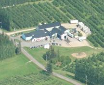 Close-up aerial photo, south-west view, showing the complex, 2006; Memramcook Valley Historical Society Inc. and the Village of Memramcook