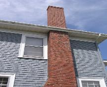 McCurdy House, chimney and wall detail, 2004; Heritage Division, NS Dept. of Tourism, Heritage and Culture, 2004