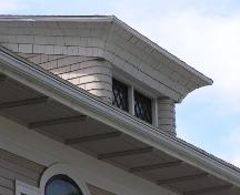 Frank McCurdy House, dormer detail, 2004; Heritage Division, NS Dept. of Tourism, Culture and Heritage