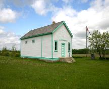View from the southwest of the Horod School, near Little Saskatchewan River Valley, 2005; Historic Resources Branch, Manitoba Culture, Heritage, Tourism and Sport, 2005