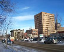 Context view of the Fraser Block, from the southwest, Brandon, 2004.; Historic Resources Branch, Manitoba Culture, Heritage, Tourism and Sport, 2005