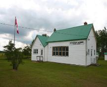 Northeast elevation of Spurgrave School, Carrick, 2004; Historic Resources Branch, Manitoba Culture, Heritage, Tourism and Sport, 2004