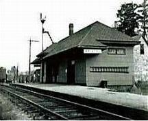 North-east view of the old Bristol CPR Station; Florenceville-Bristol
