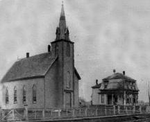 Showing original Methodist church, c. 1878; Alberton Museum Collection