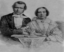 Rev. and Mrs. George Nicol Gordon, c. 1856; Alberton Museum Collection