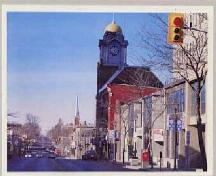 Image showing prominence of the clock tower; City of Brampton Economic Dev. Dept.