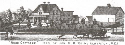 Engraving of Rose Cottage, 1880