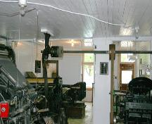 Interior view of the Crystal City Courier Building, Crystal City, 2005; Historic Resources Branch, Manitoba Culture, Heritage, Tourism and Sport, 2005