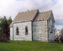 Side view of St. Michael's Anglican Church.; Government of Saskatchewan, James Winkel, 2004.