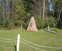 Showing context of cairn in cemetery; Province of PEI, Charlotte Stewart, 2007