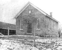 Black and white image of Lyon's Creek Church.; Francis J. Petrie Collection, 1909
