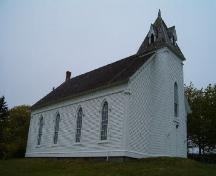 Front and south elevation, Argyle Historic Church, Argyle, Nova Scotia, 2004. ; Heritage Division, NS Dept. of Tourism, Culture and Heritage, 2004