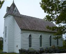 Front and north elevation, Argyle Historic Church, Argyle, Nova Scotia, 2004.; Heritage Division, NS Dept. of Tourism, Culture and Heritage, 2004.