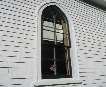 Showing detail of Gothic window; Province of PEI, Charlotte Stewart, 2007