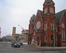 Featured are Park Baptist Church, the Public Library and Central Presbyterian Church, 2007.; Kayla Jonas, 2007.