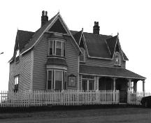 View of front facade, St. Joseph's Roman Catholic Presbytery (Parish House), Bonavista.; HFNL 1998